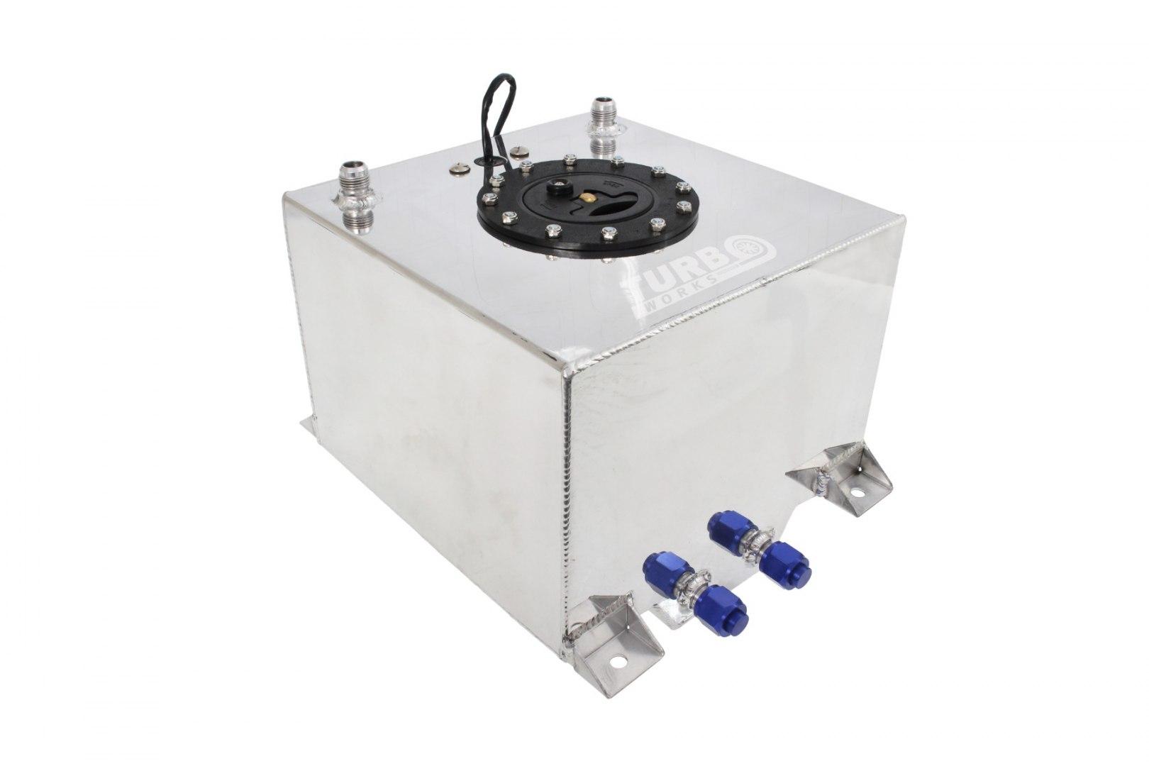 Zbiornik Paliwa TurboWorks 60L z czujnikiem Silver - GRUBYGARAGE - Sklep Tuningowy